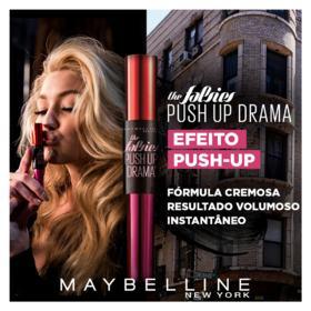 Máscara para Cílios Lavável Maybelline - Falsies Push Up Drama - Preto