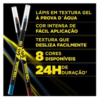 Imagem 5 do produto Lápis Delineador Maybelline Colossal Gel - Platina Pura