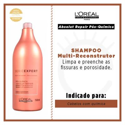 Imagem 6 do produto L'Oréal Professionnel Absolut Repair Pós-Química - Shampoo Multi-Reconstrutor - 1500ml