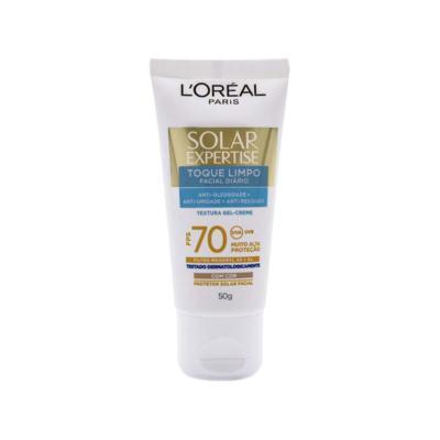 Imagem 8 do produto Protetor Solar L'Oréal Paris Solar Expertise Facial Toque Limpo com Cor FPS 70 - 50ml