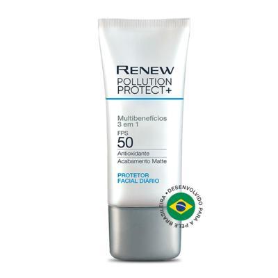 Imagem 1 do produto Protetor Facial Diário Renew Pollution Protect+ FPS 50 - 50 g