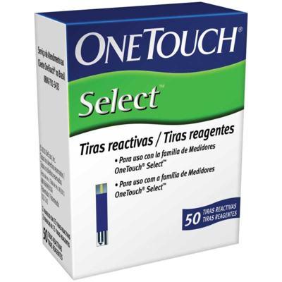 Tira Teste Glicemia - OneTouch Select | 50 unidades