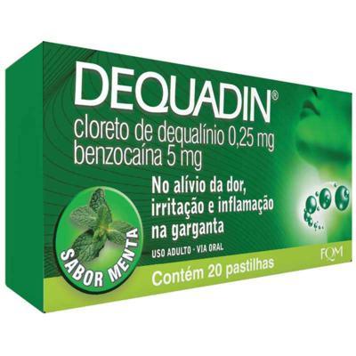 Dequadin Menta - 0,25mg/5mg   20 pastilhas