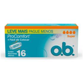 Absorvente Ob Pro Comfort Interno - Super | 16 unidades | Leve Mais Pague Menos