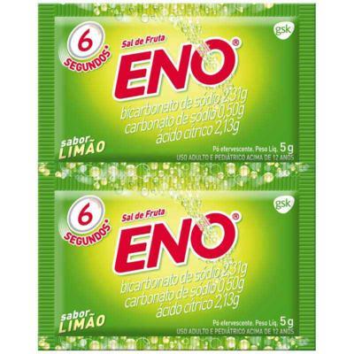 Sal de Fruta Eno - Sabor Limão | 2 envelopes de 5g efervescente