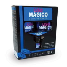 kit Hidrabell - Liso Mágico   Shampoo 500ml + Cond 400ml + Ampola 40g