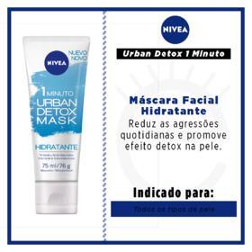 NIVEA MASCARA FACIAL URBAN DETOX HIDRATANTE 75 ML x 1