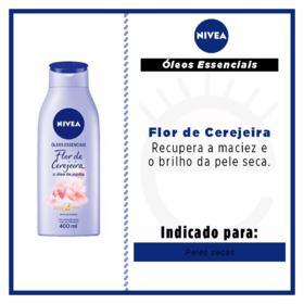 Loção Deo-Hidratante Nivea Óleos Essenciais - Flor de Cerejeira | 400ml