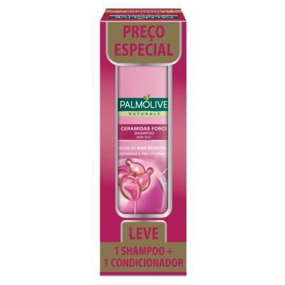 Shampoo e Condicionador Palmolive Naturals Ceramidas - Force | 350ml | Promo Leve 1 Shampoo + 1 Condicionador