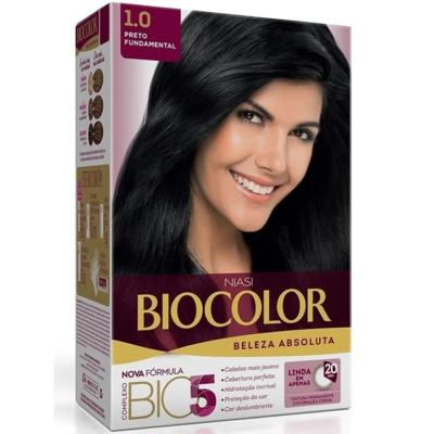 Kit Biocolor - Preto Natural 1.0 | 125g