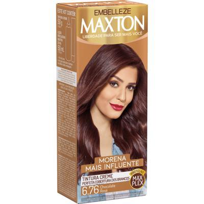 Tintura Creme Maxton - 6.76 Chocolate Rosé | 1 unidade
