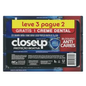 Creme Dental Close-Up Protecao Bioativa - 70g | Leve 3 Pague 2