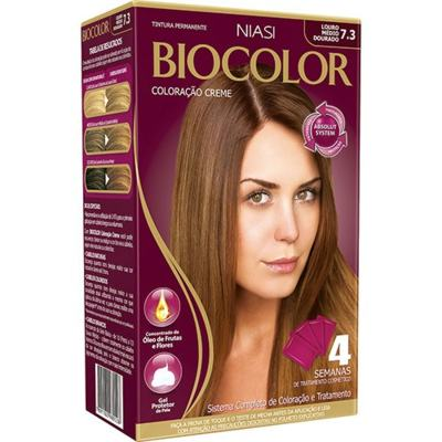 Tinta de Cabelo Biocolor - Louro Leve 7.3   1 unidade