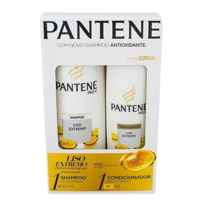 Shampoo + Condicionador Pantene Pro-V - Liso Extremo | 400ml + 175ml