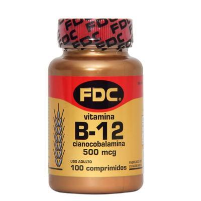 Vitamina B-12 FDC - 500mcg | 100 comprimidos