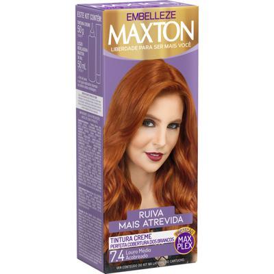Tintura Creme Maxton - 7.4 Louro Médio Acobreado   1 unidade