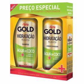 Kit Niely Gold Shampoo+Condicionador Hidratante Agua E Coco - Todos os Tipos De Cabelo | 300/200ml | 2 unidades