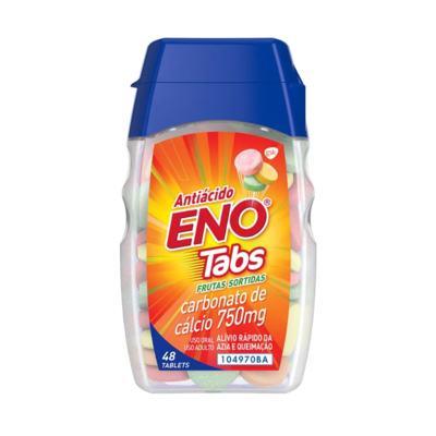 Antiácido Eno Tabs - 750mg Sabor Frutas Sortidas | 48 comprimidos mastigáveis