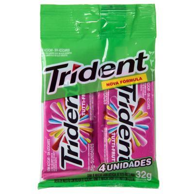 Goma De Mascar Trident - Tutti-Frutti | 8g | 20 unidades