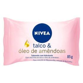 Sabonete Nivea Bath Care Hidratantre - Talco e Oleo De Amendoa | 90g