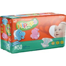 Fralda Hipopo Baby Economica - M | 50 unidades