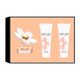 Marc Jacobs Daisy Love Kit - Perfume Feminino EDT 50ml + Loção Corporal 75ml + Gel de Banho 75ml - Kit
