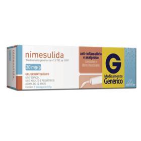 Nimesulida Gel  Genérico Multilab - 20mg/g   40g