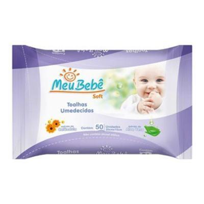 Toalhas Umedecidas Meu Bebe Soft - Aloe Vera | 50 unidades