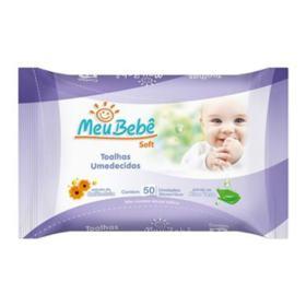 Toalhas Umedecidas Meu Bebe Soft - Aloe Vera   50 unidades