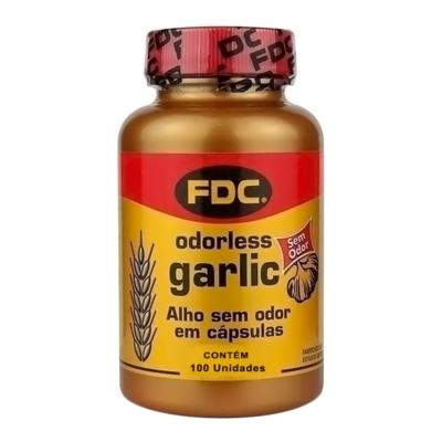 Óleo de Alho FDC - Odorless Garlic | frasco com 100 cápsulas