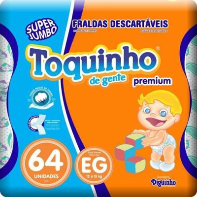 Fralda Toquinho De Gente Premium - XG   64 unidades