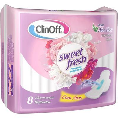Absorvente Sweet Fresh Clin Off - Com Abas | 8 unidades