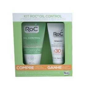 Kit Protetor Solar Roc Minesol Serum+ Intensive Cleanser - Oil Control Fps30   2 unidades   Gratis Gel Limpeza Cleanser    Revisar depois