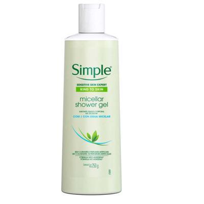 Sabonete Liquido Corporal Simple Gel Com Agua Micelar -  | 250ml