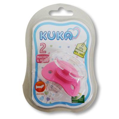Chupeta Ortodôntica Kuka Color Plus Nº2 - Rosa | 1 unidades
