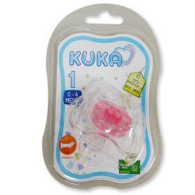 Chupeta Ortodôntica Kuka Color Cristal Nº1 - Rosa | 1 unidades