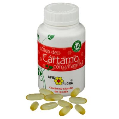 Óleo de Cártamo e Vitamine E Apis Flora - 60 cápsulas