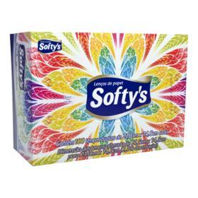 Lenço Softys Elite - Folha Dupla | 100 unidades