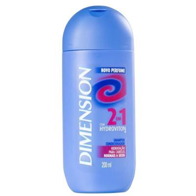 Shampoo Anticaspa Dimension 2 em 1 - Cabelos Secos   200ml