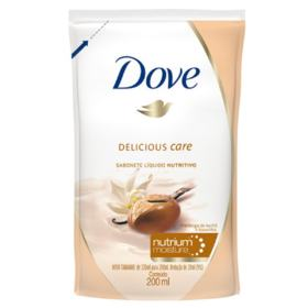 Refil Sabonete Líquido Dove Delicious Care - Karité e Baunilha   200ml