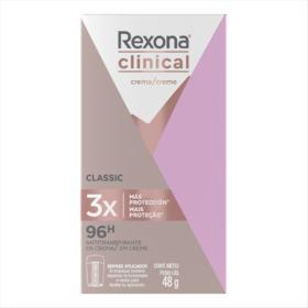 Desodorante Antitranspirante em Creme Rexona Clinical Women - Classic | 48g