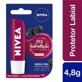 Protetor Labial Nivea - Amora Shine | 4,8g