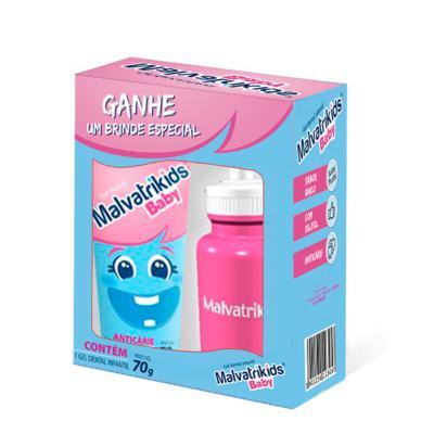 Gel Dental Malvatrikids Baby - 70g | 1 kit | + grátis, squezze, rosa