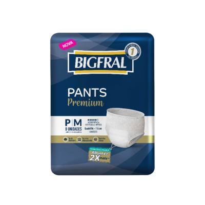 Roupa Íntima Bigfral Pants - P/M   8 unidades