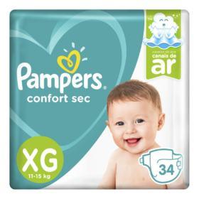 Fralda Pampers Confort Sec - XG   34 unidades