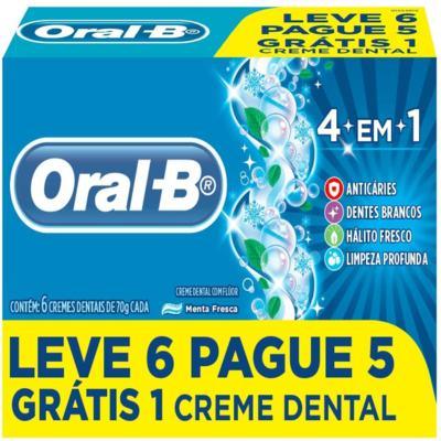Creme Dental Oral-B - 4 Em 1 | 70g | Leve 6 Pague 5