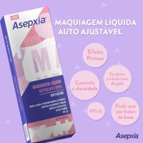 Maquiagem Líquida Autoajustável Asepxia - Antiacne | 30ml
