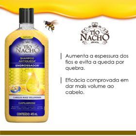 Shampoo Tío Nacho - Antiqueda Engrossador | 415ml