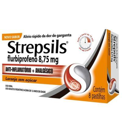 Strepsils - Sabor Laranja | 8 pastilhas