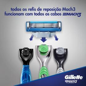 Carga Para Aparelho De Barbear Gillette Mach3 - Turbo | 4 unidades